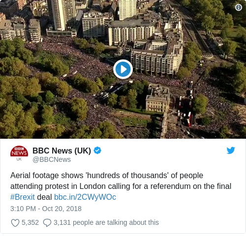 7a04f4589da8 Campaigners claim half a million marched in London to call for new Brexit  vote