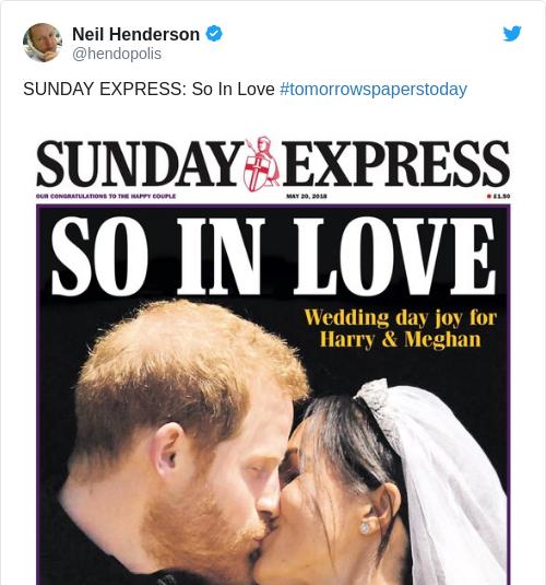 Tweet by @Neil Henderson