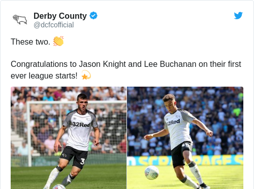 Tweet by @Derby County