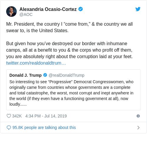 Tweet by @Alexandria Ocasio-Cortez