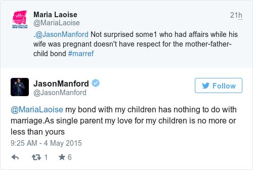 Tweet by @JasonManford