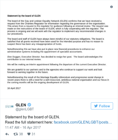 c1c068ece65a9cfe743ba67d18c4b663 - Glen 'satisfied' there has been 'no misappropriation of funds' after issues reported to regulator