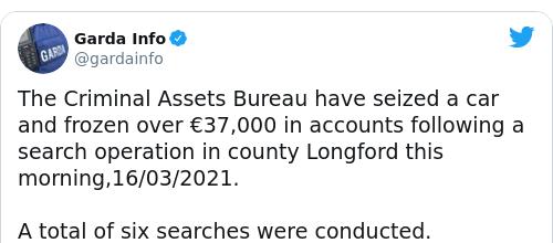 Tweet by @Garda Info