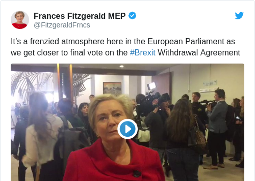 Tweet by @Frances Fitzgerald MEP