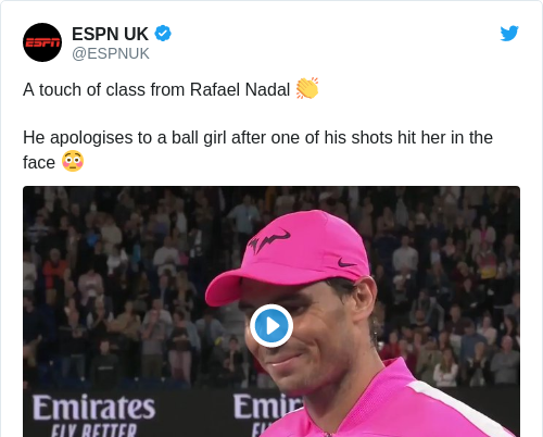 Tweet by @ESPN UK