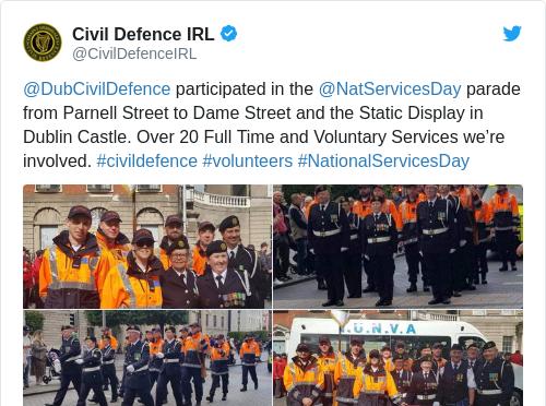Tweet by @Civil Defence IRL