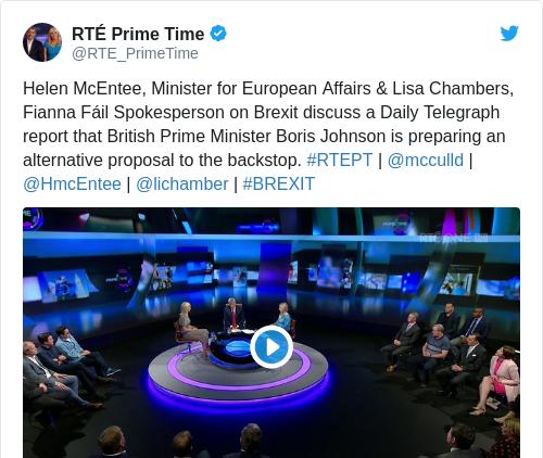 Tweet by @RTÉ Prime Time