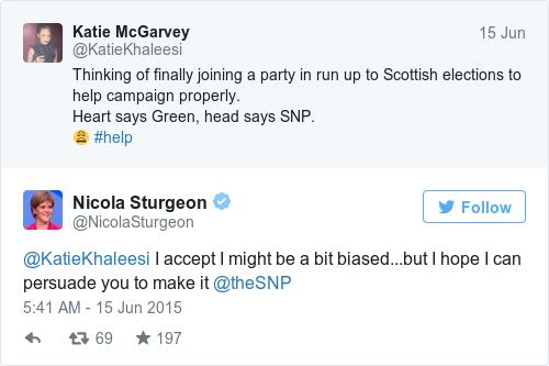 Tweet by @Nicola Sturgeon