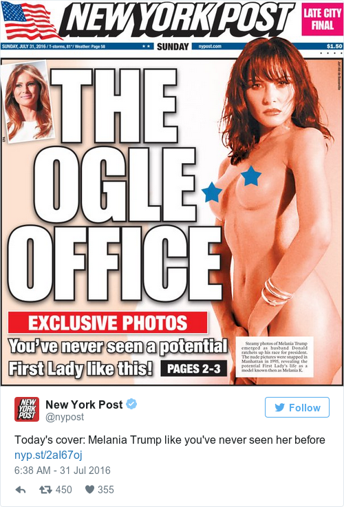 New York Newspaper Publishes Cover With Naked Picture Of Donald Trumps Wife-4620