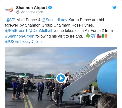 Tweet by @Shannon Airport