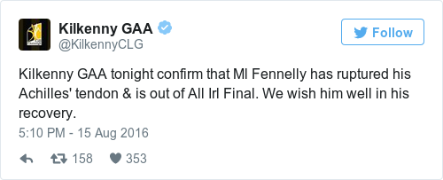 Tweet by @Kilkenny GAA