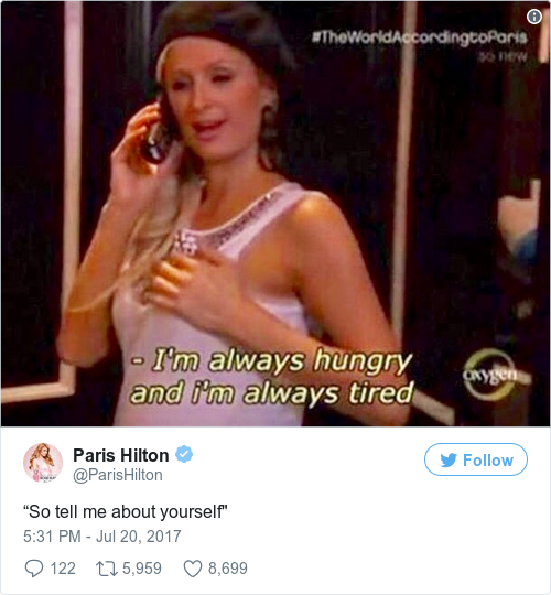 Tweet by @Paris Hilton