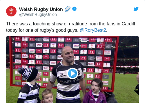 Tweet by @Welsh Rugby Union 🏉