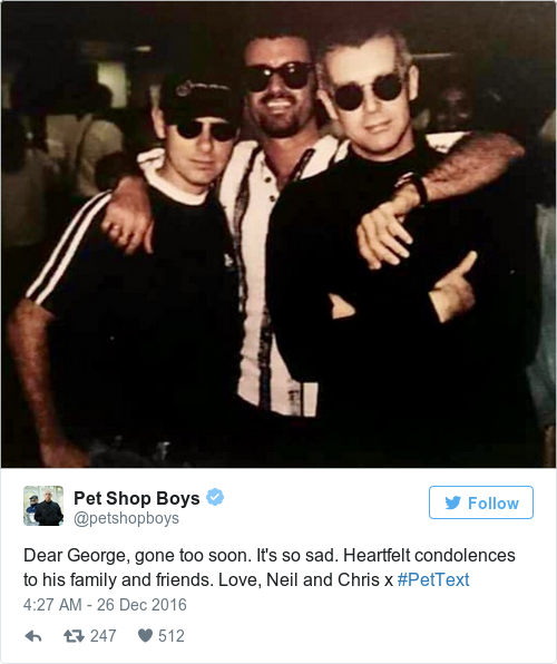 Tweet by @Pet Shop Boys