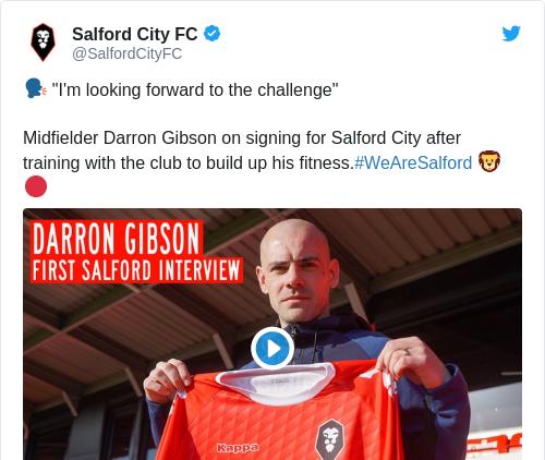 Tweet by @Salford City FC