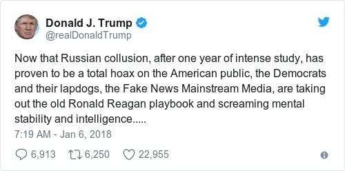 Tweet by @Donald J. Trump