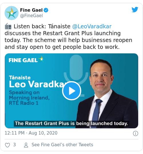 Tweet by @Fine Gael