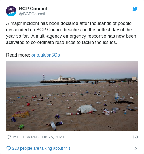 Tweet by @BCP Council