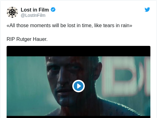 Tweet by @Lost in Film