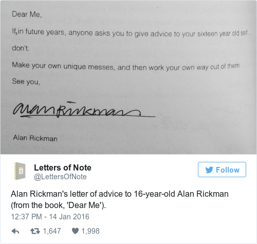 alan rickman dear me a letter to my 16 year self alan rickman dear me a letter to my 16 year self dear me a 336