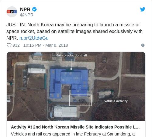 Tweet by @NPR