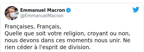 Tweet by @Emmanuel Macron