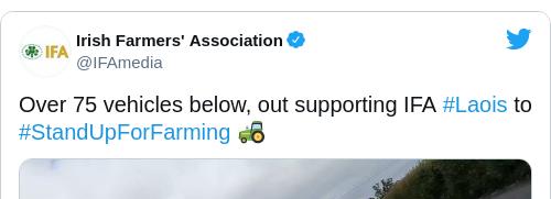 Tweet by @Irish Farmers' Association
