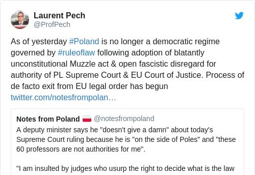 Tweet by @Laurent Pech