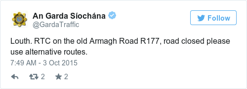 Tweet by @An Garda Síochána