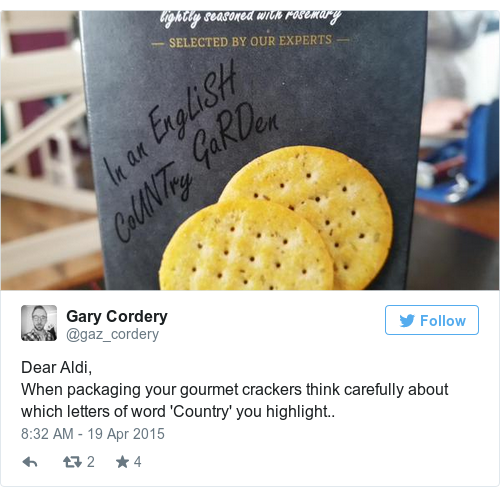 Tweet by @Gary Cordery