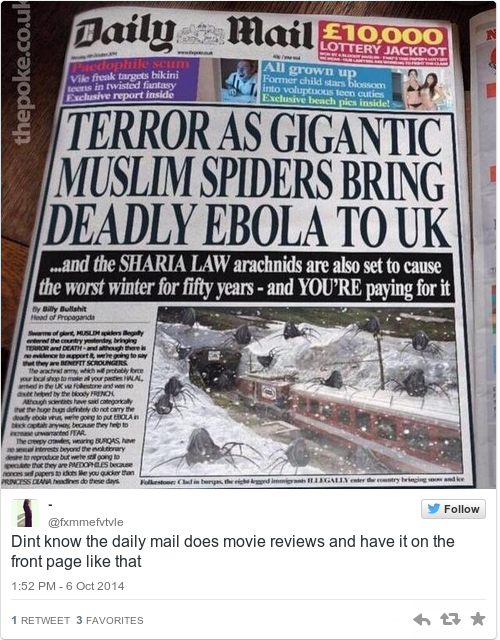 this fake daily mail headline about 'muslim spiders' fooled lots of