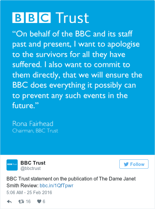 Tweet by @BBC Trust