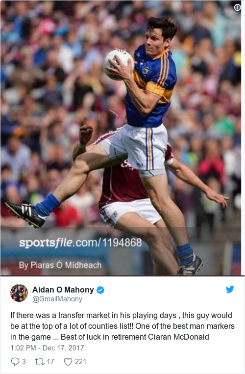 Tweet by @Aidan O Mahony