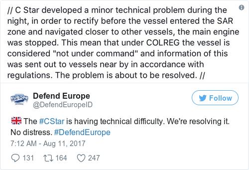 Tweet by @Defend Europe