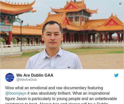 Tweet by @We Are Dublin GAA