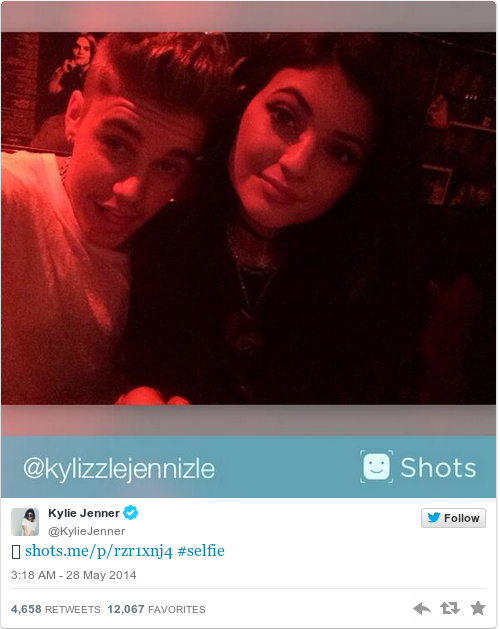 Tweet by @Kylie Jenner
