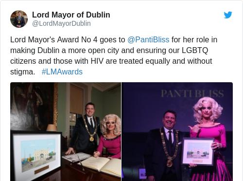Tweet by @Lord Mayor of Dublin