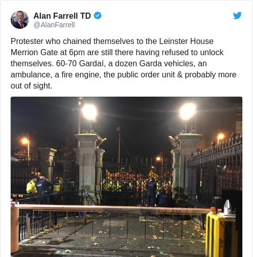 Tweet by @Alan Farrell TD
