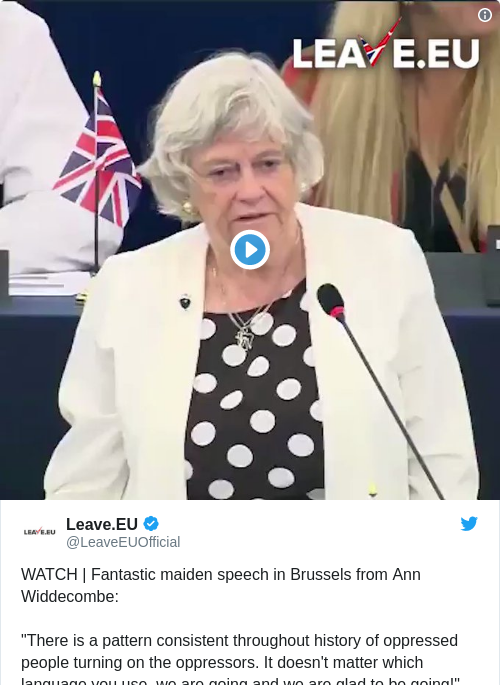 Tweet by @Leave.EU